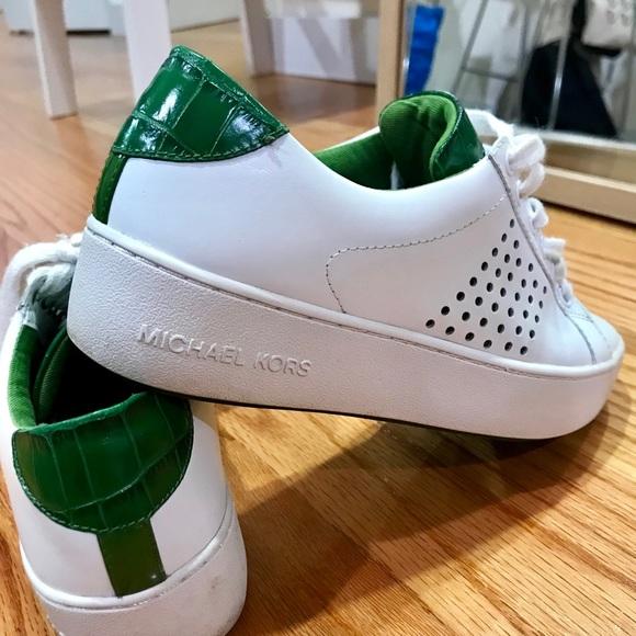 michael kors sneakers green